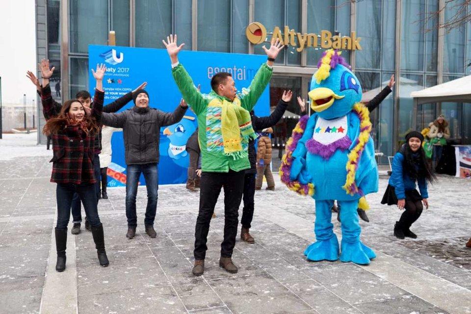 Зимние соревнования в Esentai Mall